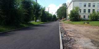 Ремонт тротуара на улице Агеева закончат к середине августа