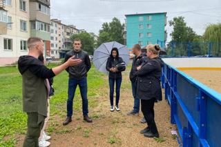 Новые хоккейные коробки установили в Доброполье и на ул. Лениградской