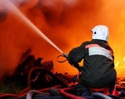 На пожаре в Уссурийске пострадали три человека