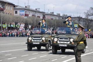 В Уссурийске прошёл военный Парад Победы