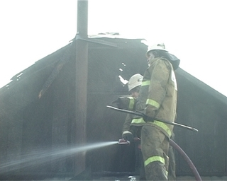 Двухквартирный дом на Кузнечной удалось спасти во время пожара